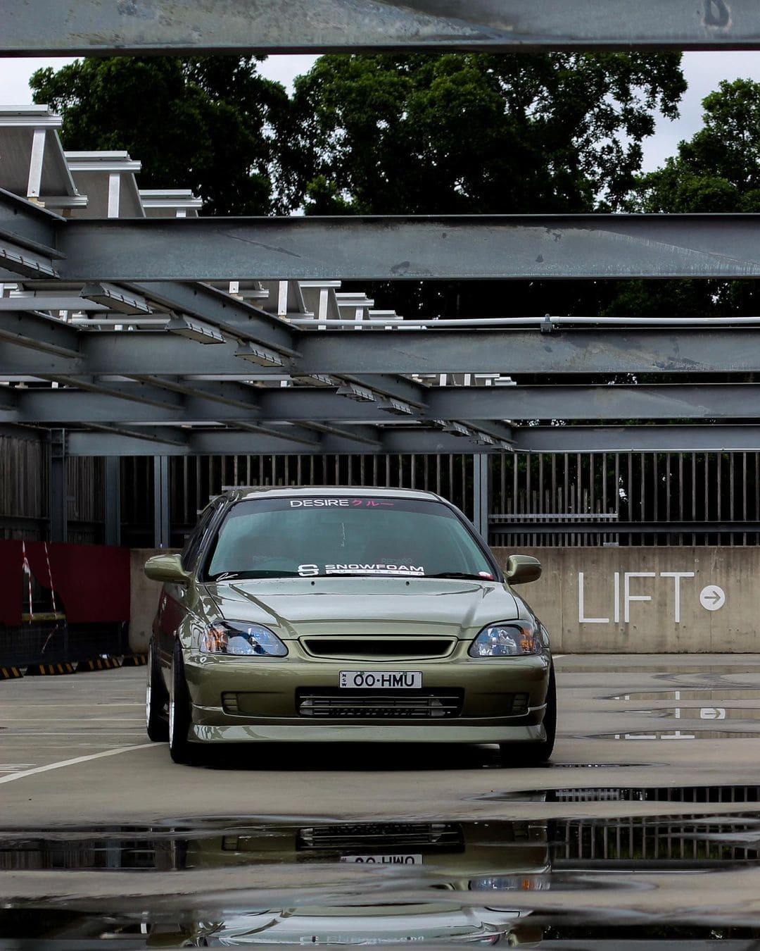 2000 JDM Honda Civic Hatchback Front End