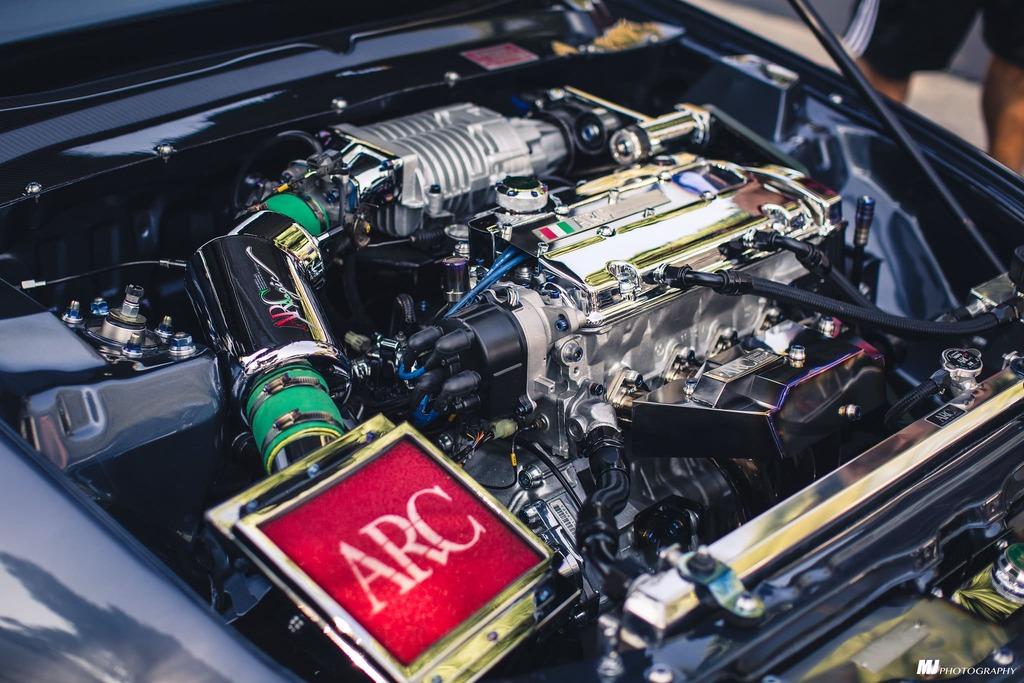 Engine bay 1994 Honda Prelude