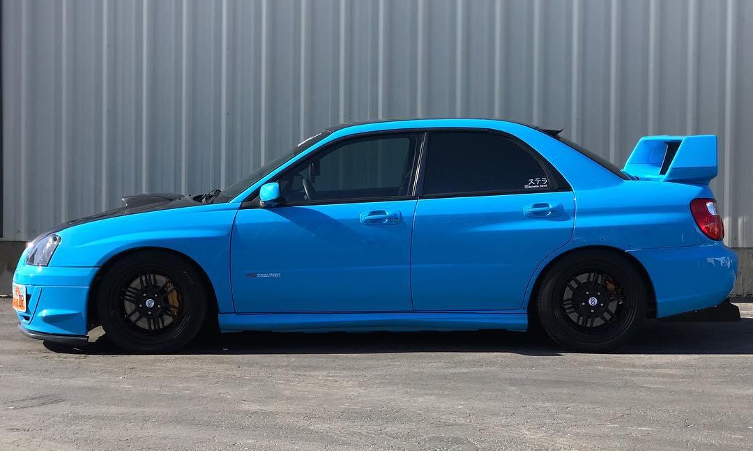 Tinted Subaru STI