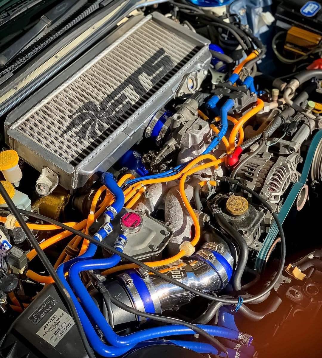 Subaru STI Engine bay