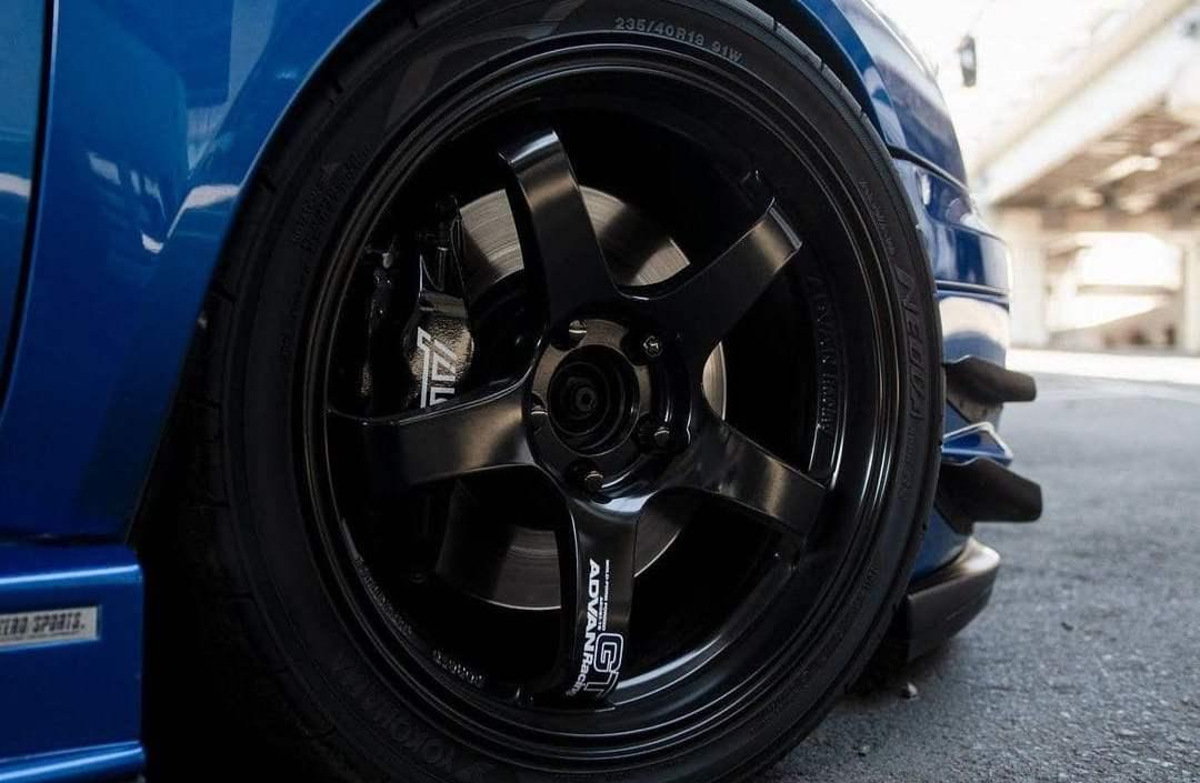 Lowered Subaru STI