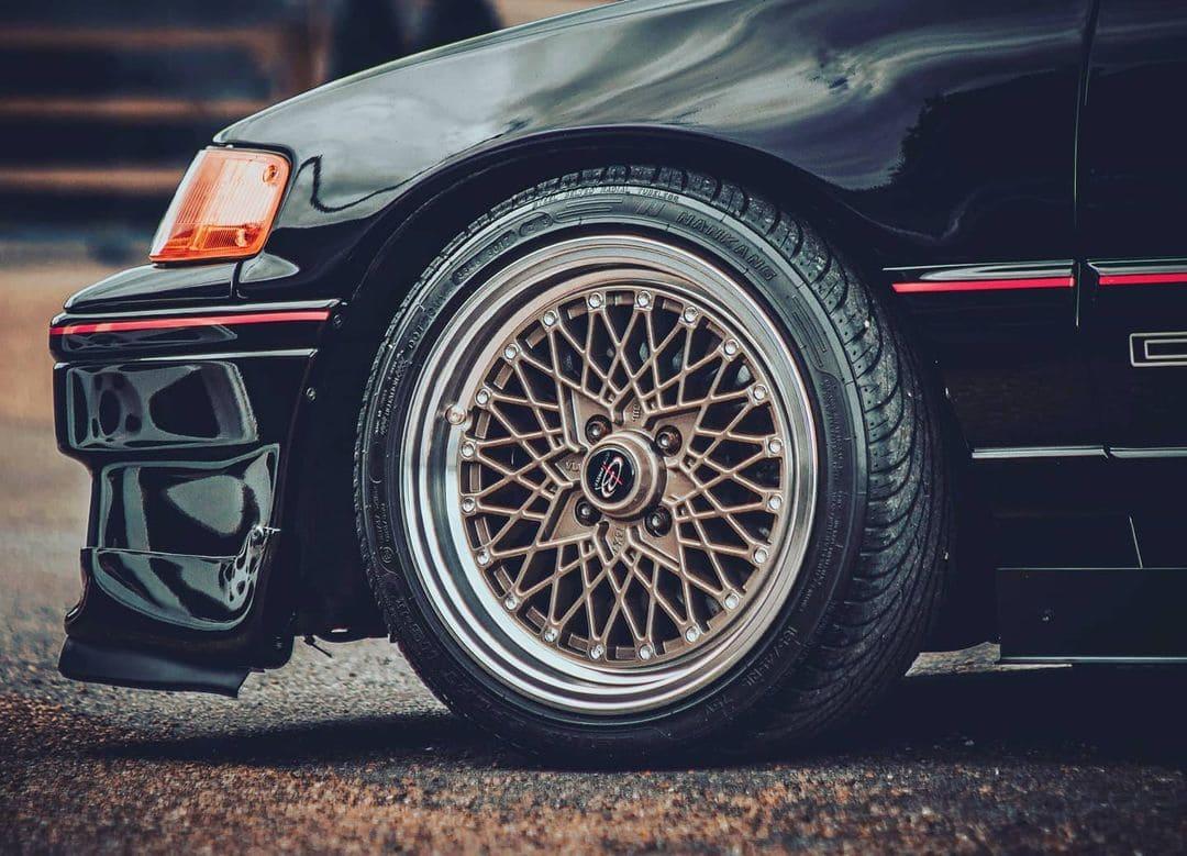 Honda CRX With Rims