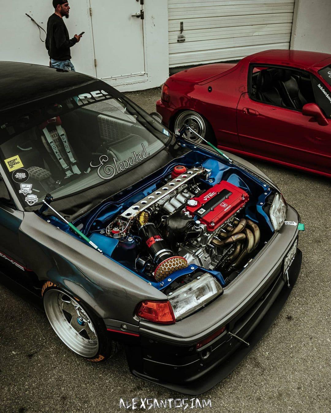 89 Honda Civic Hatch Engine bay
